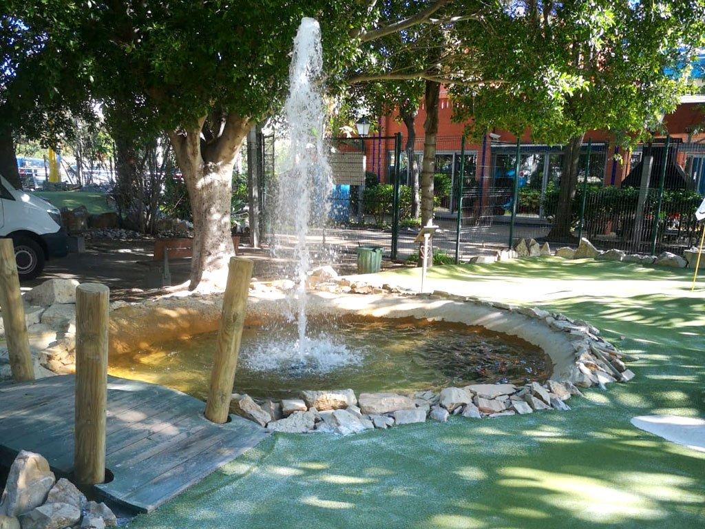 Adventure Golf water feature